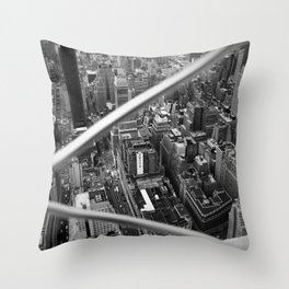 Manhattan from Above, 2018 Throw Pillow
