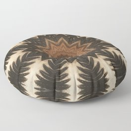 Pine Cone // Geometric Abstract Circular Mandala Forest Nature Tree Woods Woodland Wild Seeds Rustic Floor Pillow