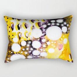 Pink Galaxy Abstract Acrylic Painting I Rectangular Pillow
