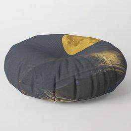 A Summer Full Moon Floor Pillow