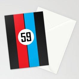 Brumos Racing Carbon Fibre design Stationery Cards