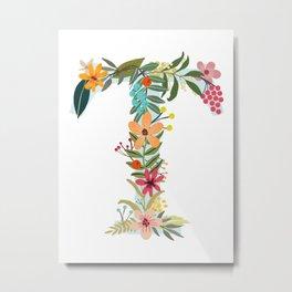 Monogram Letter T Metal Print