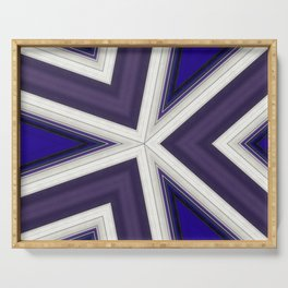 Angles in Blue and Purple Serving Tray