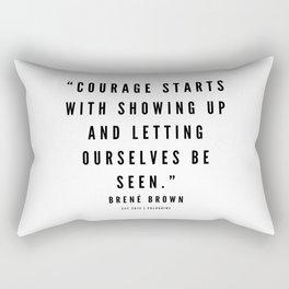4     | Brené  Brown Quotes | 190524 | White Design Rectangular Pillow