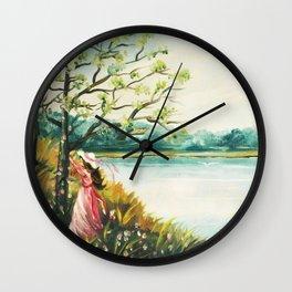 I am leaving by Lynda Wall Clock