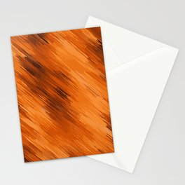 brown orange and dark brown painting texture abstract background Stationery Cards