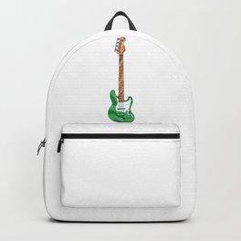 Green Bass Guitar Backpack