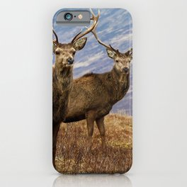 The four stags on the loch iPhone Case