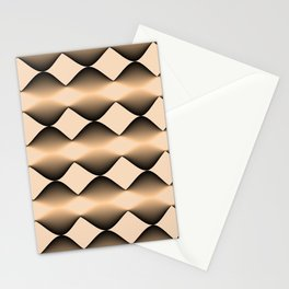 Wave in Sand color Stationery Cards