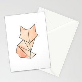 Geometric Fox - Orange Stationery Cards