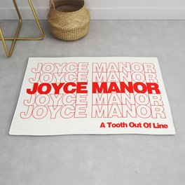 Red Thank You Joyce Manor Rug