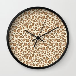 Leopard spots animal pattern print minimal basic home decor safari animals Wall Clock