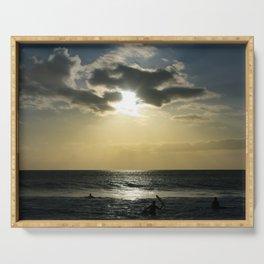 E ala mai o loko i ke kuhohonu o ke Aloha Kamaole Beach Serving Tray