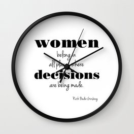 Women belong in Wall Clock