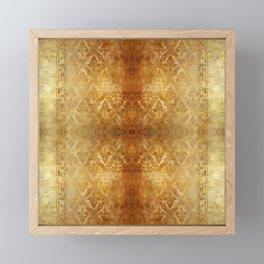 AGED GOLDEN DAMASK  Framed Mini Art Print