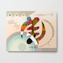 Adinkra Gye Nyame Metal Print