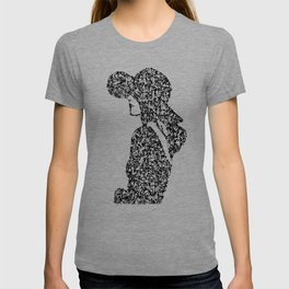 Kanji Calligraphy Art :woman's face #22 T-shirt