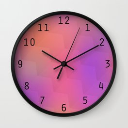 Colorful geometric background. Blurred pattern Wall Clock