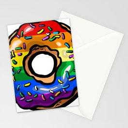 Donut lgbt rainbow flag gay lesbian queer bi Stationery Cards