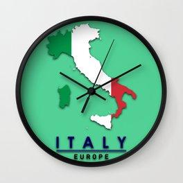 Italy - Europe Wall Clock