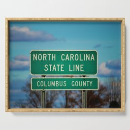NC State Line Serving Tray