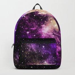 Yellow Pink Purple Galaxy Nebula Dream #1 #decor #art #society6 Backpack