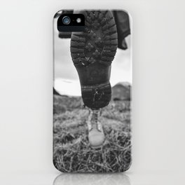 Let's Explore (Black and White) iPhone Case
