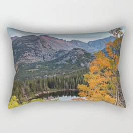 Rocky Mountain Autumn Sunset Colorado National Park Fall Landscape Rectangular Pillow