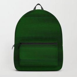 Emerald Green and Black Abstract Backpack
