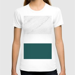 Marble And Teal T-shirt