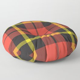 Christmas Green and Red Classical Plaid Tartan Pattern Floor Pillow