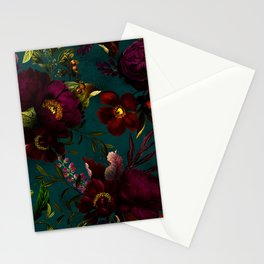 Before Midnight Vintage Flowers Garden Stationery Cards