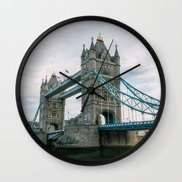 Historical Landmark Tower Bridge on River Thames Wall Clock