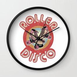 Roller Derby Roller Skates - Red & Pink Retro Wall Clock