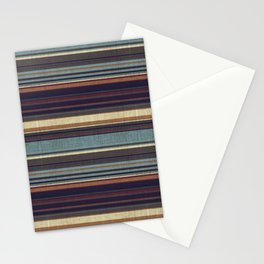 """Blue lines burlap"" Stationery Cards"