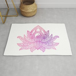 Yin Yang Lotus - Watercolor Rug