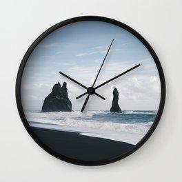 Reynisfjara II Wall Clock