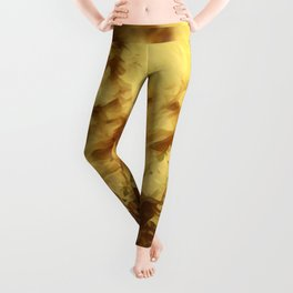 The Golden Day Abstract  Leggings