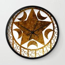 Golden Tyme Wall Clock