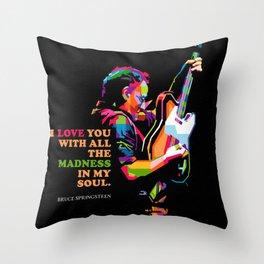 BruceSpringsteen Throw Pillow