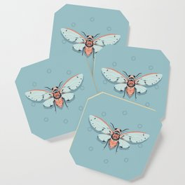 Orange and Blue Insect Coaster
