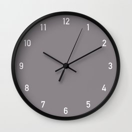 Numbers Clock - Taupe Wall Clock