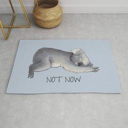 Koala Sketch - Not Now - Lazy animal Rug