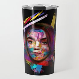Lady in the color Travel Mug