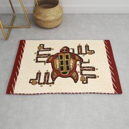 Laako'ob Uchben Mayan Folk Art Rug