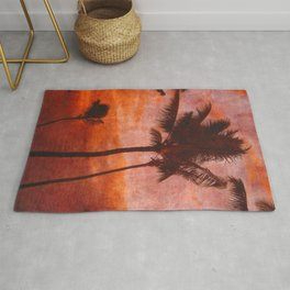 Maui Palms at Sunset Rug