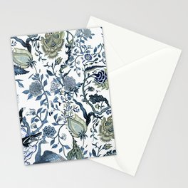 Blue vintage chinoiserie flora Stationery Cards