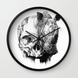 rhinoceros skull head Wall Clock