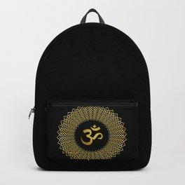 Golden Om Symbol Backpack