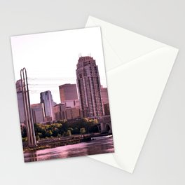 Minneapolis Minnesota Skyline at the Mississippi River Stationery Cards